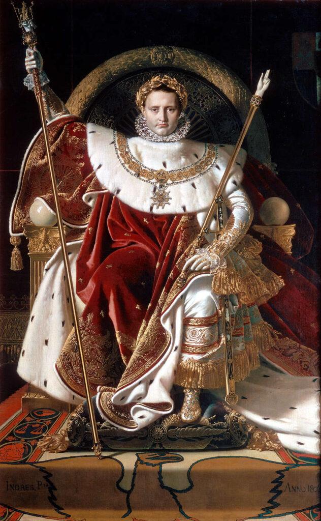 Napoleon I na tronie cesarskim, Jean-Auguste-Dominique Ingres, 1806
