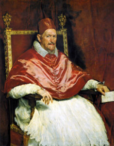 Portrait of Innocent X, Diego Velázquez, c 1650.